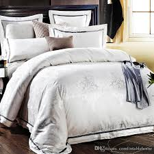 hotel high end bedding european style four piece 1 5 m 2 0 m quilt bed pure white hotel bedding white duvet cover set twin bedding from