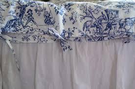duvet cover toile de jouy in blue