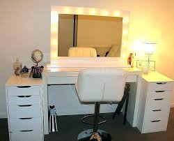 how to make a makeup vanity lighted mirror new modern white home improvement s in my