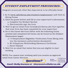 Questions About Employment Hiring Forms Student Employment