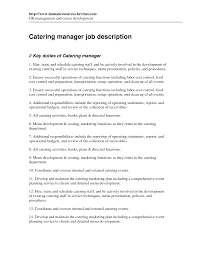 Catering Job Description Resume catering duties for resume Savebtsaco 2
