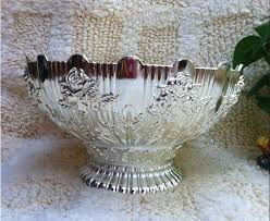 Decorative Metal Fruit Bowls 60 silver finish round metal fruit bowl tray nut plate 56