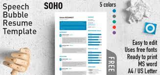 SoHo  Speech Bubble Resume Template