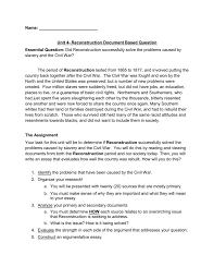 reconstruction dbq franklin board of education