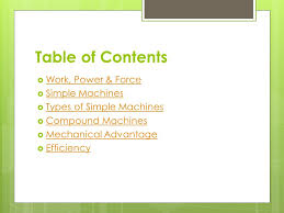 machines review and summary of important topics table of contents 2 table