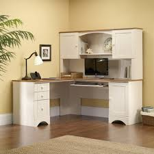 white l shaped desk with hutch. Plain With Workcenter With Hutch Set In White L Shaped Desk