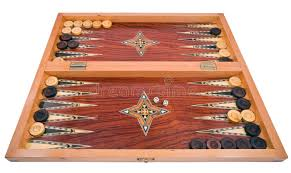 Handmade Wooden Board Games Wooden Handmade Backgammon Board Isolated On White Stock Image 49