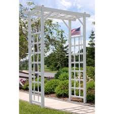 garden arbor lowes. Wonderful Lowes DuraTrel 475ft W X 7ft H White Garden Arbor Inside Lowes F