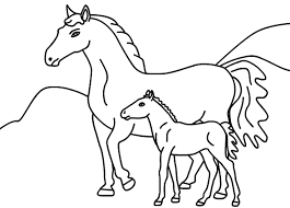 Small Picture Horses Coloring Pages Printable FunyColoring