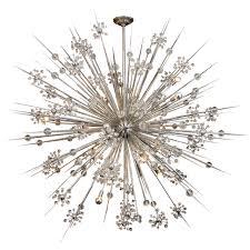 huge custom crystal starburst sputnik chandelier for
