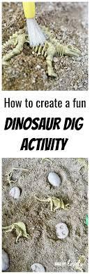 diy dinosaur dig activity for kids