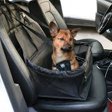 dog booster seat black for car waterproof and non scratch with leash portable dog car carrier ideal equipment of dog travel short long travel