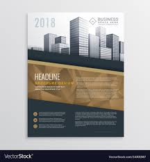 real estate flyer templates real estate brochure flyer template design with vector image