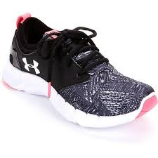 under armour running shoes black and white. under armour women\u0027s ua flow criss cross running shoes ($80) ❤ black and white