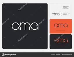 Letters Logo Ama Template Business Card Stock Vector Ajayandzyn
