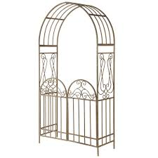 garden accents gated archway