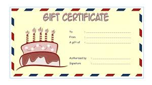 Word Templates For Gift Certificates Microsoft Word Birthday Gift Certificate Template Happy Voucher