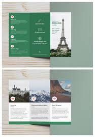 How To Make Travel Brochure Green Photo Centric Trifold Travel Brochure Idea Venngage