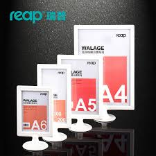Menu Display Stands Restaurant 100 pack Reap Walage ABS T shape desk sign holder card display stand 51