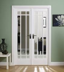 manhattan internal french doors with clear bevelled glass