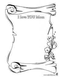 Small Picture I Love My Mom Coloring Pages qlyviewcom