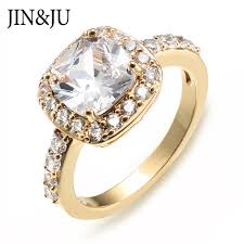 Engagement Rings Elegant Designs Us 7 07 26 Off Jin Ju Jewelry Elegant Ring Gold Color Unique Design Anniversary Wedding Rings For Women Fashion Jewelry New Year Presents In Rings