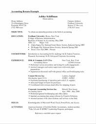 Amusing Sample Accounting Internship Resume Objective With Example