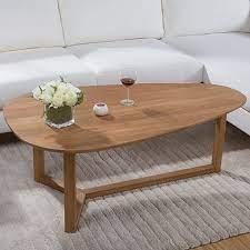 yidai home white oak coffee table oval