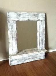 pallet picture frame wood old mirror and painted to look vintage rustic frames