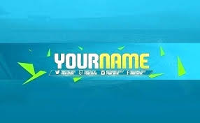 Channel Template Download Logo Sample Maker Background Free Youtube Blue Icon Art