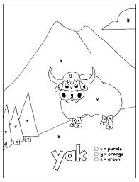 The benefits of coloring pages: Worksheets For Kindergarten And Preschool Color By Letter Coloring Pages Set 6 Letters V Y X How Wee Learn