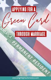 Applying for green card through marriage. Green Card Through Marriage Processing Time And Procedure Green Cards Green Card Application Green Card Usa