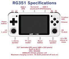 Máy chơi game RG351P 2021 - Thẻ 64GB - Chơi game PSP, PS1, NDS, SEGA, MAME,  CPS, NES, SNES, GBA, GBC và hàng chục hệ máy khác - Máy chơi Game khác