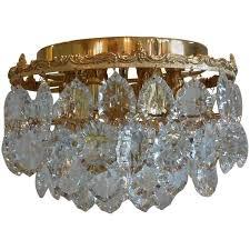 hollywood regency style palwa flush mount chandelier for
