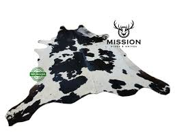 black white cowhide rug l kuhfell teppich cow hide