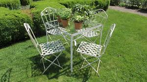 salterini wrought iron furniture. vintage salterini wrought iron folding chairs and square table furniture t