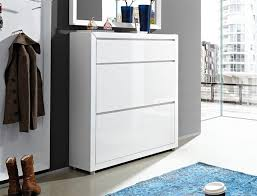 Fino by Germania 1 Drawer and 2 Door Shoe Cabinet in High Gloss White