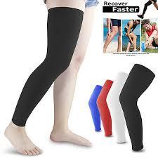<b>1 Pair Compression</b> Leg <b>Calf</b> Long <b>Sleeve</b> Support Brace Stockings ...