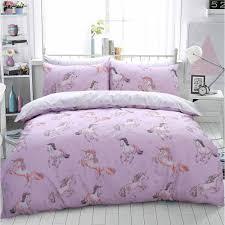 luxury paintly unicorn horse pink duvet set quilt cover pillowcase girls bedding single 506490 p5657 15408 image jpg