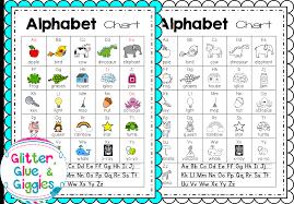 My Alphabet Chart Glitter Glue Giggles July 2015