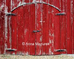 8X10 Red Barn Door Fine Art Photography Print Americana Home
