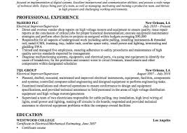 Electrician Resume Sample Sample Electrician Resume Luxury Industrial Resumes Free Examples 90