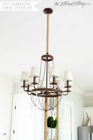 10diy twine chandelier chain cover to make it