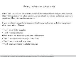 Library Technician Resume Library Technician Cover Letter In This