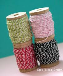 the craft wood section 4 to a pack often on at hobby lobby and wound my twine around them simple pretty effective