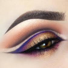eye makeup cut crease dramatic prom homeing winged eyeliner glitter