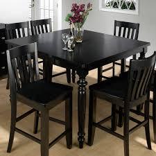 elegant square black mahogany dining table: black kitchen table thearmchairs awesome black kitchen