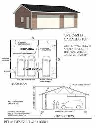 3 car garage plans area