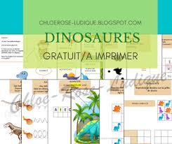 * tu peux imprimer à volonté les éléments présents dans ce pdf. Dinosaures