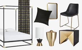 brass is in a class all its own its striking without being stuffy and cool but the opposite of cold pair the retro metal with rich black and you get a brass furniture